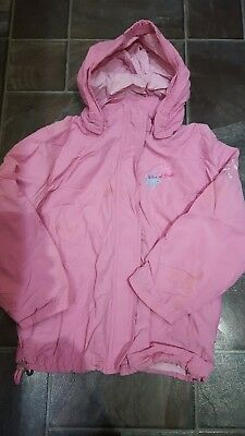 Girls Pink NEXT Anorak Spring Jacket Fully lined with Hood 7-8 Years