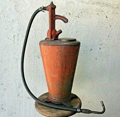 Vintage Oil Grease Dispenser Pump 29 in. tall antique greaser lubster oiler lube