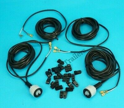 2 x 4m Marker Lamp Plug In Wiring Harness & CLIPS for Radex 2800 2900 5800 6800