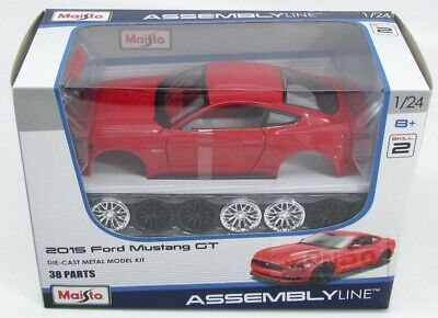 Ford Usa Mustang Coupe 5.0 Gt 2015 Red Maisto 1:24 MI39126R-KIT Modellbau