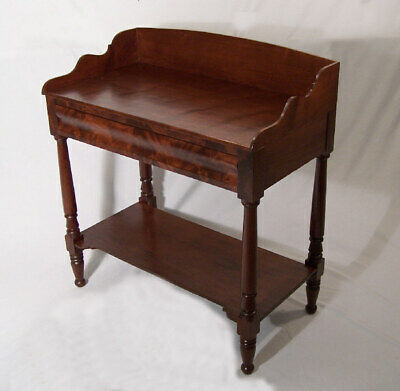 American Federal mahogany sever or stand c 1825 bedside server or lamp table