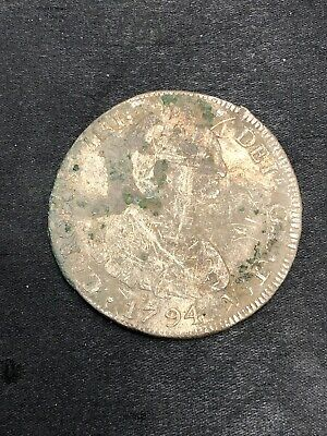 1794 PR Bolivia 8 Reale Milled Bust Potosi Colonial