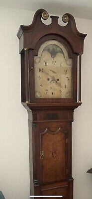 Antique Vintage Rare Derby Longcase Grandfather Tall Long Case Clock