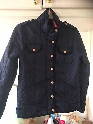 Girls Blue Quilted Jacket Aged 12 Years By Ted Baker