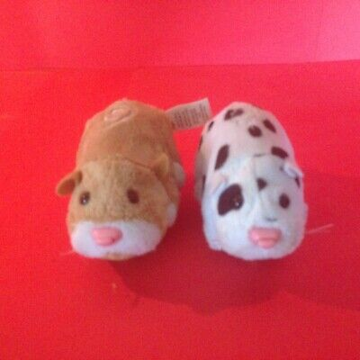 Set of 2 Different Zhuzhu Pets One Tan One Spotted