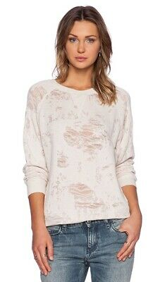 IRO Jeans Gareth Distressed Burnout Light Blush Pale Pink Sweater Pullover XS
