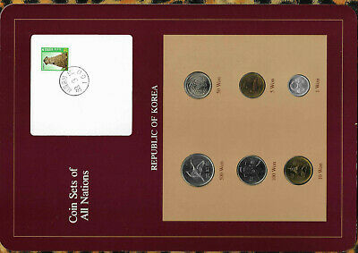 Coin Sets of All Nations Korea UNC 1983-1987 500 Won 1984 100 Won 1987