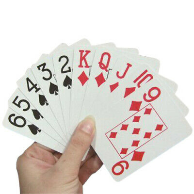 Large Print Pack of Playing Cards - Red