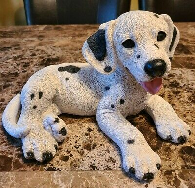 Vintage 1992 Castagna Original Resin DALMATIAN PUPPY Dog Statue Made in Italy