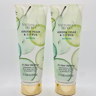 2 Victoria's Secret Green Pear & Citrus Refresh Body Fragrance Mist Spray 8.4 oz