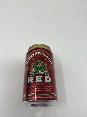 "Henry Weinhard's ""Red"" Red Colored Beer Can"