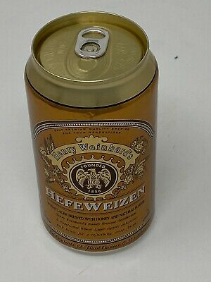 "Henry Weinhard's ""Hefeweizen"" Gold Colored Beer Can Brown Logo"