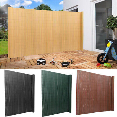 3/5/6FT PVC Natural Board Fence Panel Garden Privacy Slat Fencing Screening Mats