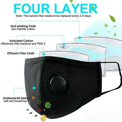 Breathable Face Masks With Filter (3 Masks & 6 Replaceable Filters Per Order)
