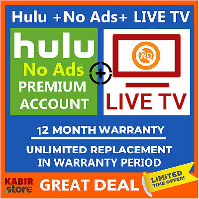 ✅ Hulu + LIVE TV  ✅Pandora Gift✅Premium Account ✅1 Year Warranty ✅ Fast Delivery
