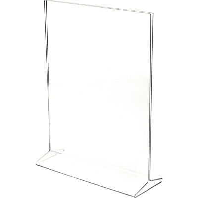"Plymor Clear Acrylic Sign Display / Literature Holder (Top-Load), 11"" W x 14"" H"
