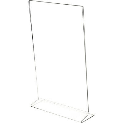 "Plymor Clear Acrylic Sign Display/Literature Holder (Side-Load), 8.5"" W x 14"" H"