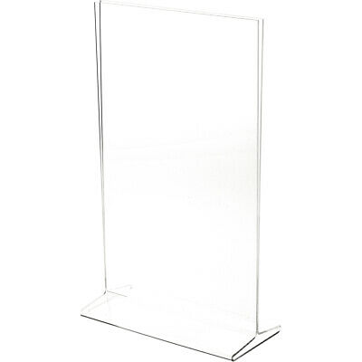 "Plymor Clear Acrylic Sign Display / Literature Holder (Top-Load), 8.5"" W x 14"" H"