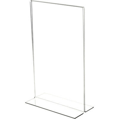 "Plymor Clear Acrylic Sign Display/Literature Holder (Bottom-Load), 8.5"" W x 14""H"