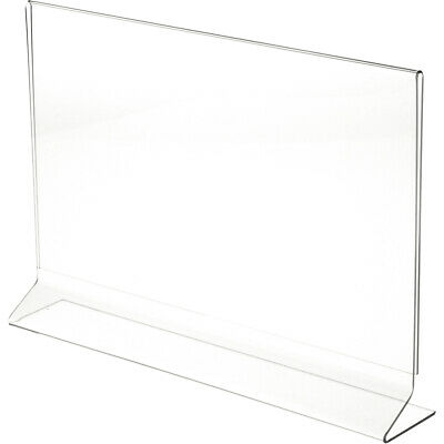 "Plymor Clear Acrylic Sign Display/Literature Holder (Side-Load), 14"" W x 8.5"" H"