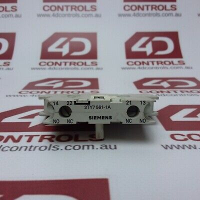 3TY7561-1A | Siemens | Auxiliary Contact 1 N.O.+1 N.C. Left Mount - Used