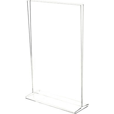 "Plymor Clear Acrylic Sign Display / Literature Holder (Top-Load), 11"" W x 17"" H"