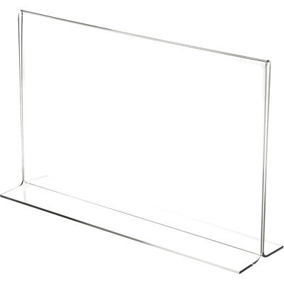 "Plymor Clear Acrylic Sign Display/Literature Holder (Bottom-Load), 14"" W x 8.5""H"