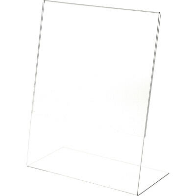 "Plymor Clear Acrylic Sign Display / Literature Holder (Angled), 11"" W x 14"" H"