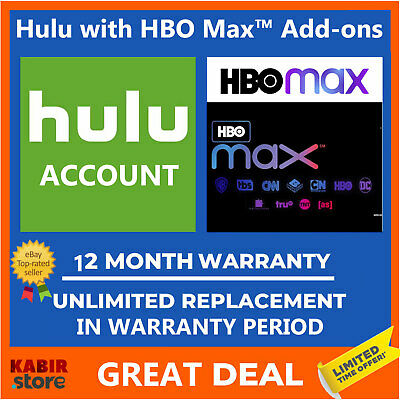 Hulu + HBO ✅Premium Account ✅1 Year Warranty ✅Fast Delivery