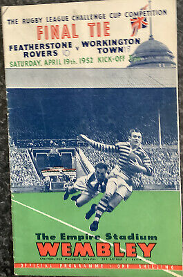 Rugby League Challenge Cup Final Tie Programme Featherstone V Workington 1952