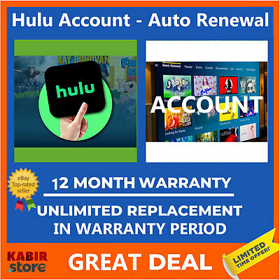 Hulu Premium Account | Lifetime Warranty | Very fast Delivery