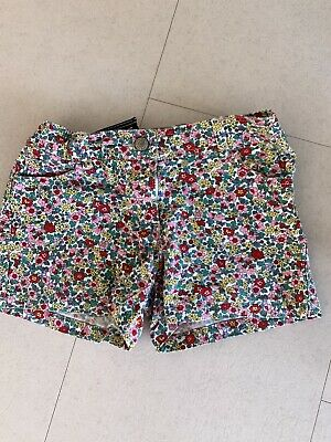 Mini Boden Girls Floral Shorts  Age 9-10 Years Excellent Condition