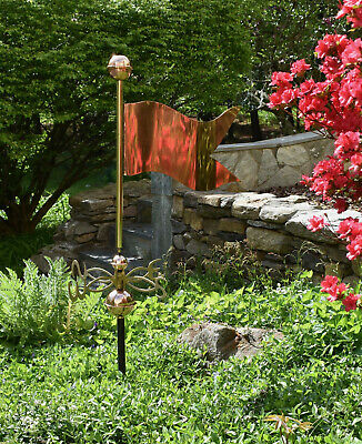 """Large Banner Weathervane - 19"""" long- pure Copper with solid Cast Brass N-S-E-W"""