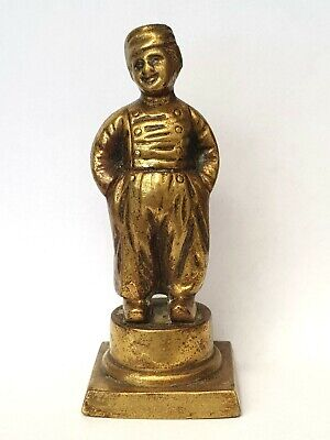 Antique Late 19th Century Bronze Statuette Of 18th Century Drummer Boy-c1880's