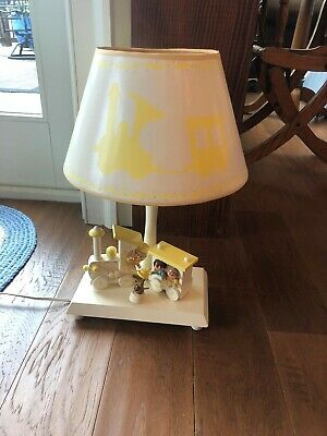 Vintage 1970's Nursery Originals Musical Table Lamps with Original Shade