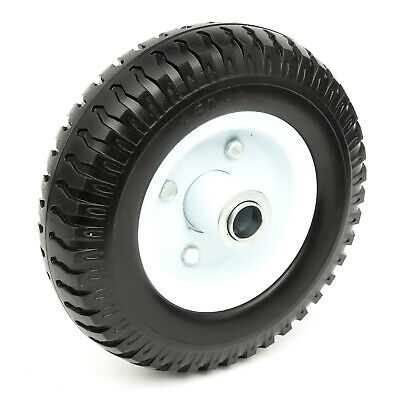 PU Solid Tyre & Metal Jockey Wheel Puncture Proof  220x60 20mm Bore Trailer