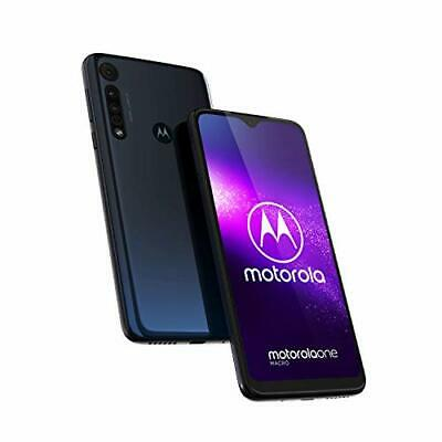 "Motorola Moto One Macro 64GB DS Blue 6.2"" Android PAGS0001DE"