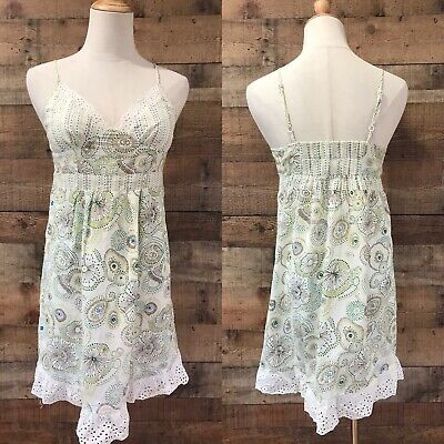Eloise Anthropologie Cotton Eyelet Dress Camisole Nightgown XS