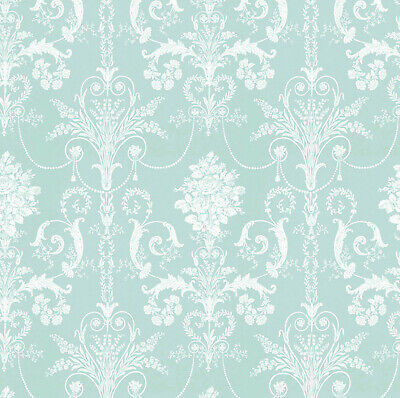 Dolls House Wallpaper 1/12th 1/24th scale Light Green Quality Paper #282