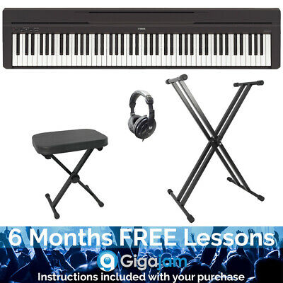 Yamaha P45B 88 Note Stage Digital Piano Pack with Stand, Stool and Headphones