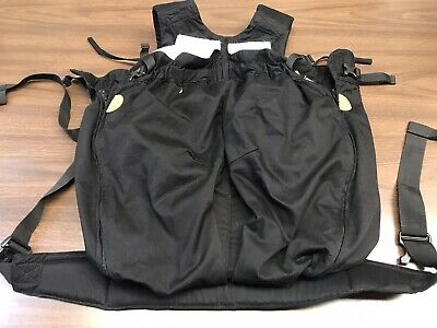 NWOT Weego Twin Baby Carrier Excellent  Black  Retails New $169 Straps
