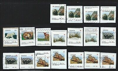 ZX19  Canada used stamps lot on paper