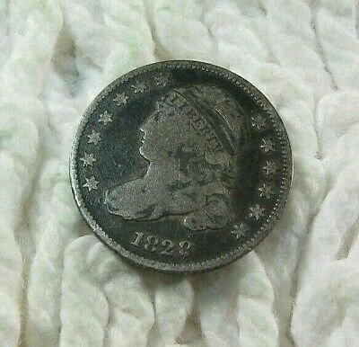 1828  -  BUST DIME  -  Silver  -  F  - Small Date  - Tougher Date Coin!