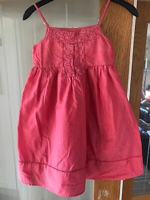M&S Autograph Girls Summer Coral Dress Age 8