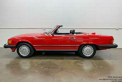 1987 Mercedes-Benz SL-Class 560SL 1987 Mercedes-Benz SL-Class 560SL 59,879 Miles Signal Red Convertible Serviced!