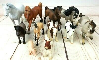 Schleich Horses and Pig Figures Modern 2000's Lot of 11