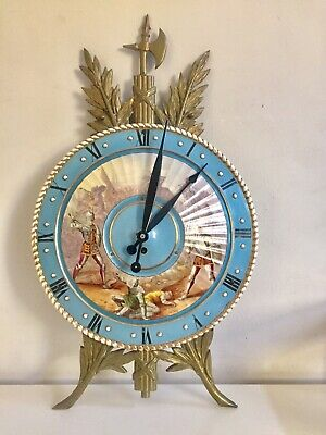 Antique Unusual French Porcelain Shield Wall Clock With Ormolu Mounts  . C1900