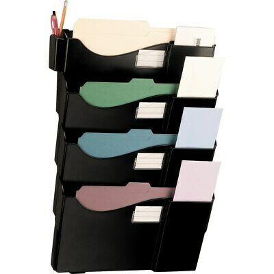 Office Depot Brand Wall 4 Pockets, Letter Size/Legal Size, Black