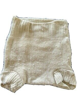 Disana Merino Wool Pull-On Diaper Cover, Natural, 6-12 months, Soaker Shorts