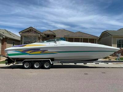 NO RESERVE! Baja 38 Special Fully loaded & Trailer! Fountain Formula Cuddy Twins